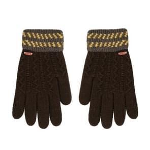 Winter handschoenen kinderen klassieke meisjes jongens winter warme handschoenen (Deep Coffee)