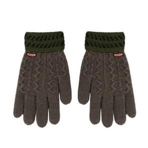 Winter handschoenen kinderen klassieke meisjes jongens winter warme handschoenen (donkergrijs)