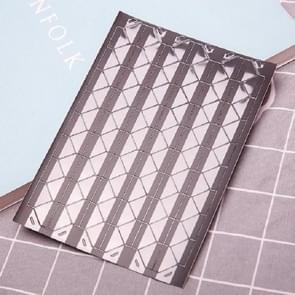 Les Boek Corner Protector Foto Scrapbook Album Foto Frame Decoratieve Hoek Sticker (Transparant op Zwart)