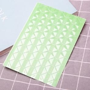 Les Boek Corner Protector Foto Scrapbook Album Foto Frame Decoratieve Hoek Sticker (Transparante groene achtergrond)