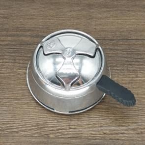 Aluminum Alloy Kaloud Charcoal Holder Stove Burner for Shisha Hookah Bowl Hookah Head Heat Keeper(Silver )