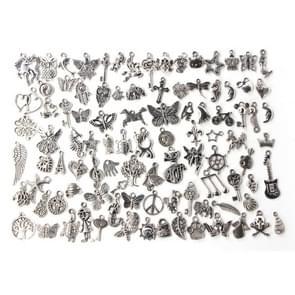 100pcs  Mixed Antique Silver Color European Bracelets Charm Pendants Fashion Jewelry DIY Charms Handmade