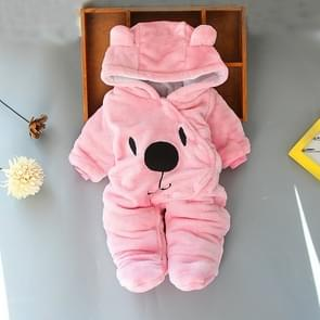 Bear Shape Winter Thick Cotton Cartoon Soft Baby Siamese Clothes, Height:80cm(Pink)