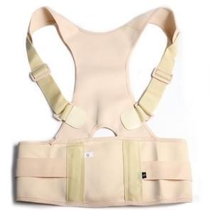Male Female Adjustable Magnetic Posture Corrector Corset Back Men Brace Back Shoulder Belt Lumbar Support Straight L(Skin Color)