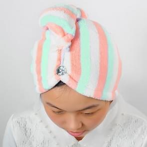 2 PCS Lady Magic Dry Hair Cap Quick Dry Hair Towel Lovely Drying Bath Towel(Pink)