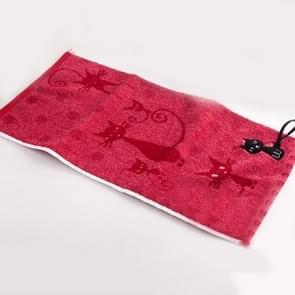 Schattig kitten patroon print katoen zachte kind-handdoek huishoudelijke gezicht handdoek cartoon kat katoen handdoeken  grootte: 30x30cm (donkerrood)