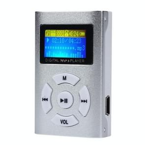 Portable TF (Micro SD) Card Slot MP3 Player with LCD Screen(Silver)