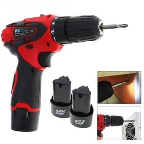12V Electric Screwdriver Rechargeable Lithium Battery Cordless Screwdriver Two-speed Power Tools