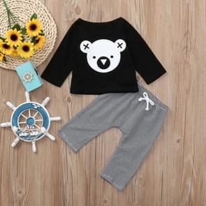 2 in 1 Baby Cartoon Koala Pattern Long-sleeved Shirt + Striped Trouser Suit, Kid Size:100cm
