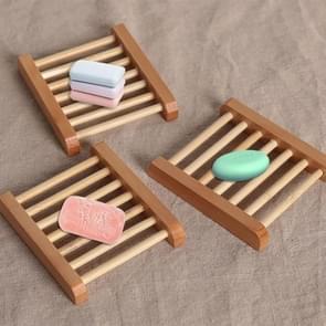 2 PCS Natural Wood Soap Tray Holder Dish Home Bathroom Storage Organizer