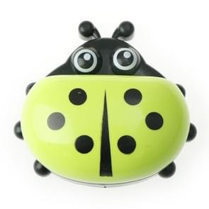 Colorful Cute Cartoon Ladybug Plastic Travel Soap Dish Box With Corver(Green)