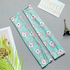 Childrens Summer Cool Zonnebrandcrème Ice Silk Printing Sleeves  Size: One Size (Corgi)