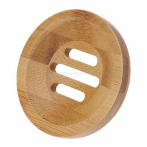 Natuurlijke hout zeepbakje houder ronde vorm badkamer stand rack