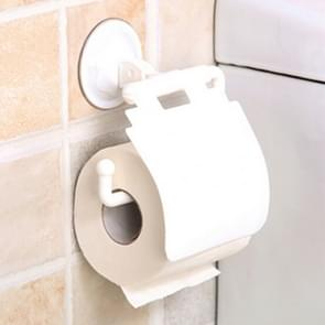 2 PCS Colorful Waterproof Plastic Toilet Bathroom Kitchen Wall Mounted Roll Paper Holder Carrier Home Decoration Tools(White)