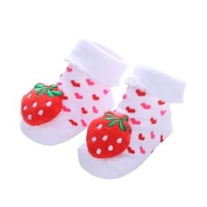 3 Pairs Cotton Cartoon Non-slip Baby Floor Socks Cute Three-Dimensional Doll Baby Toddler Socks(3#)