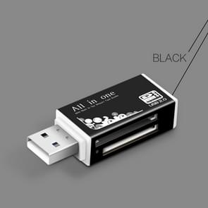 Multi in 1 Memory SD Card Reader for Memory Stick Pro Duo Micro SD,TF,M2,MMC,SDHC MS Card(Black)