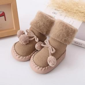 Winter Baby Warmer Floor Socks Anti-Slip Baby Step Socks, Size:13cm(Coffee)