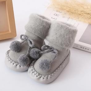 Winter Baby Warmer Floor Socks Anti-Slip Baby Step Socks, Size:14cm(Gray)