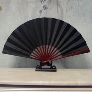 8 inch Pure Kleur Lege Zijden Doek Vouwen Fan Chinese Stijl Kalligrafie Schilderij Fan (Zwart)