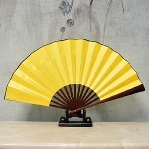 10 inch Pure Kleur lege zijden doek vouwen Ventilator Chinese stijl Kalligrafie Schilderij Fan (Geel)
