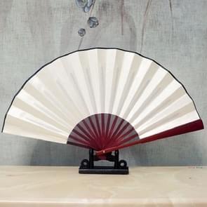 10 inch Pure Kleur Lege Zijden Doek Vouwen Fan Chinese stijl Kalligrafie Schilderij Fan (Wit)