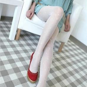 10 paren vrouwen Panty's klassieke zijden kousen dunne dame panty (witte liefde hart)