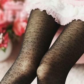 10 paren vrouwen panty's klassieke Silk kousen dun Lady Pantyhose(Leopard)