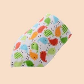Cotton Bandana Bibs Baby Babador Feeding Smock Infant Burp Cloths Cartoon Saliva Towel Baby Eating Accessory Soft Baby Stuff, Size:One Size(12# Cute Bird)