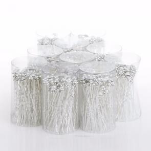 40 PC's vrouwen bruiloft Pins sieraden haaraccessoires gesimuleerd parelmoer bloem bruids haarspelden bruidsmeisje Hair Clips antieke zilveren Plated(White)
