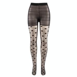 3 Pairs Japan Style Dot Patterned Women Pantyhose Sweet Girl Black Sexy Tights Female Stocking Transparent Silk Tights(Black)