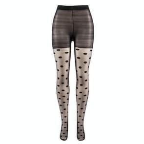 3 paren Japan stijl dot patroon vrouwen panty Sweet Girl zwart sexy panty vrouwelijke kous transparante zijden Panty's (zwart)