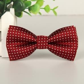 Children Dot Pattern Bow Tie Bow-knot(Dark Red)