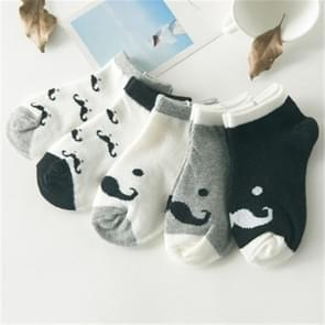 5 Pairs Cute Cotton Baby Boat Socks Children Socks, Size:1-3 years old(c768)
