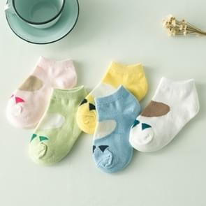 5 Pairs Cute Cotton Baby Boat Socks Children Socks, Size:4-6 years old(c769)