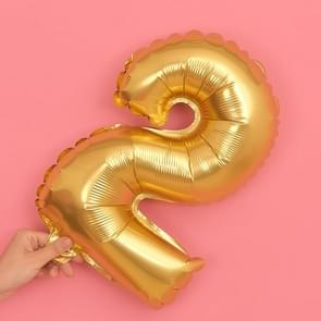5 PCS 16 Inch Number Foil Balloons Happy Birthday Party Wedding Balloons