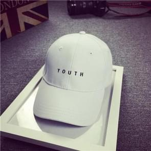 Cotton Mens Hat Youth Letter Print Unisex Women Men Hats Baseball Cap Casual Caps(White)