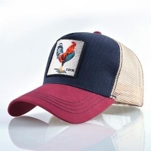 Cotton Embroidered Animal Baseball Cap(Red1 Cock)