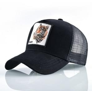 Cotton Embroidered Animal Baseball Cap(Black Tiger)