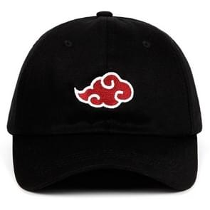 Japanese Anime Naruto Hat Uchiha Family Logo Embroidery Cotton Baseball Caps(Black)