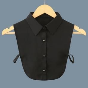 Ladies Joker Shirt Chiffon Shirt Fake Collar Clothing Accessories, Size:One Size(Black)
