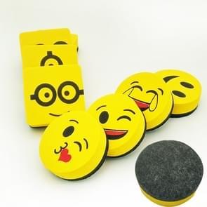 3 stuks gele glimlach gezicht whiteboard gum magnetische bord gummen veeg droge school Blackboard marker Cleaner 6 stijlen willekeurige kleur levering