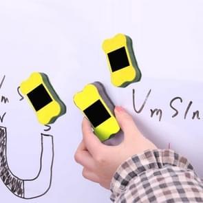3 PC'S magnetische kleine bot vilt whiteboard Wiping Preschool speciale student briefpapier (geel)