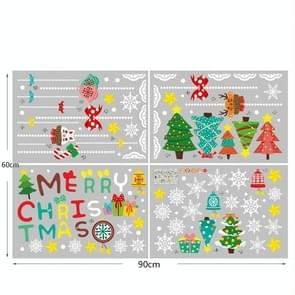 4 PCS Kerst Statische Stickers Christmas Shopping Mall Window Wall Stickers Raam Stickers  Specificatie: Kerstboom