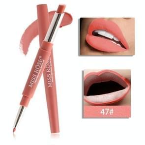 Double-end Lip Makeup Lipstick Pencil Waterproof Long Lasting Tint Sexy Red Lip Stick Beauty Matte Liner Pen Lipstick(47)