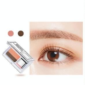 Double Color Eye Shadow Makeup Palette Glitter Palette Eyeshadow Pallete Waterproof Glitter Eyeshadow Shimmer Cosmetics(01# Pearl camel)