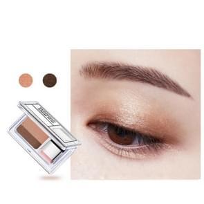 Double Color Eye Shadow Makeup Palette Glitter Palette Eyeshadow Pallete Waterproof Glitter Eyeshadow Shimmer Cosmetics(02# Earth color)