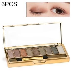 3 PCS 9 Colors Eyeshadow Palette Glitter Matte Eyeshadow Palette(LPP001229-6)