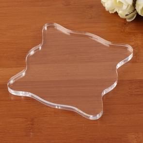 Acrylic Transparent Seal Scrapbook Decoration Tool Handle Base