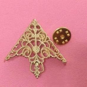 Kroon opengewerkt kraag gesp Vintage kraag klem sieraden (goud)