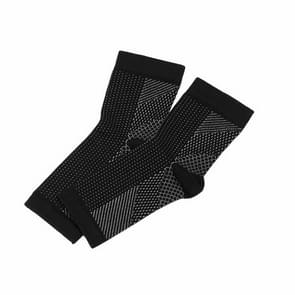 Adult Running Cycle Basketball Sports Outdoor Foot Angel Anti Fatigue Compression Foot Sleeve Sock, Size:L/XL(Black)